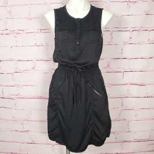 Blanc Noir Athletic Mesh and Zippered Dress
